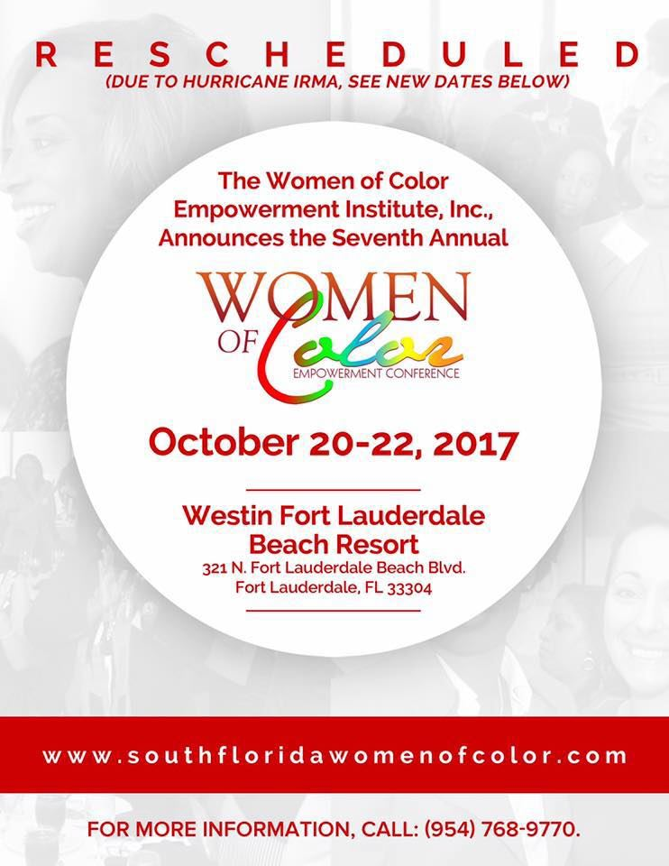Click here to register for the 2017 Women of Color Empowerment Conference.